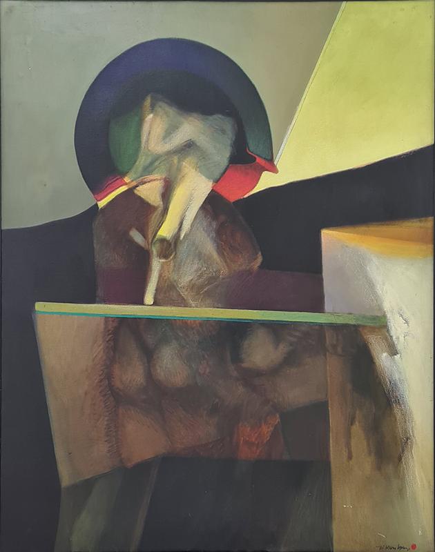Gil Teixeira Lopes (Gitelo), Gestação, da série Ambiência II, 1969, 160x130 cm, óleo sobre tela BD