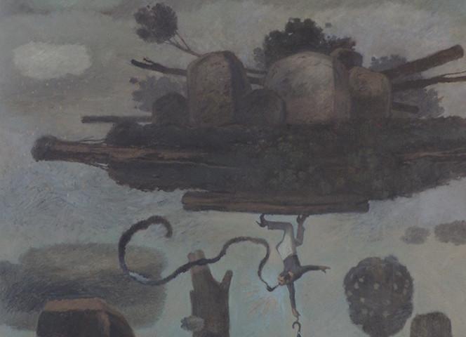JARDIM EM PERFORMANCE, 2021 óleo s tela, 90cmx73cm BD