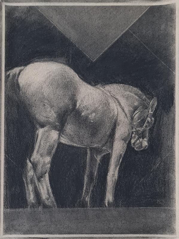 Pedro Pascoinho, Sem título, sem data, 37,5x27,5 cm , carvão sobre papel BD