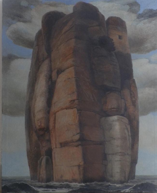 ROCHEDO MONÁSTICO, 2021, óleo s tela 90cm x 73 BDcm