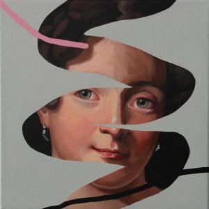 Rita Melo - copy past 80, 2020, oleo s tela, 30x30cm