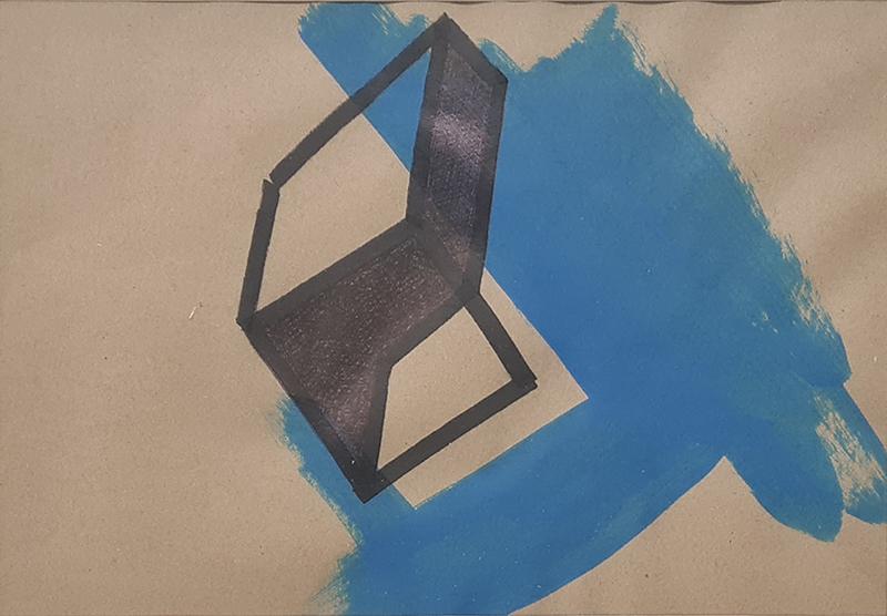 Tomáz Hipólito, Sem Título #1, 20x28,5 cm (32,5x42,5 cm), sem data, técnica mista BD