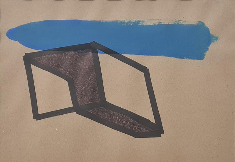 Tomáz Hipólito, Sem Título #2, 20x28,5 cm (32,5x42,5 cm), sem data, técnica mista BD