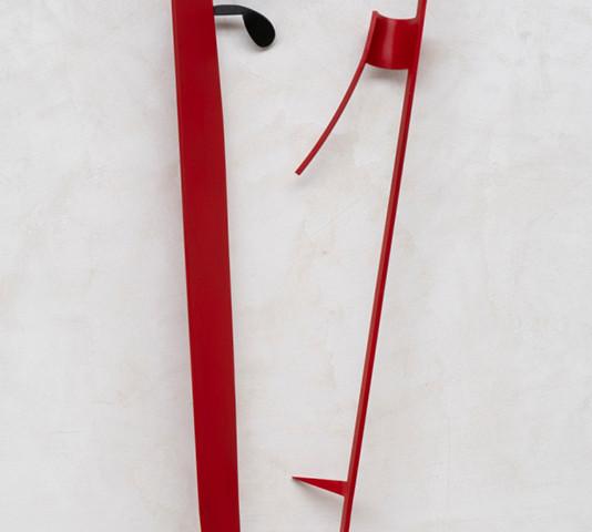 Rui Matos, Máscara a partir de dentro, 133x50x18cm, 2020, ferro e tinta de óleo BD